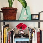 Faux Floral Arrangement for Bookshelf Styling