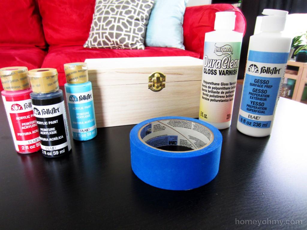 DIY Lacquered Box Materials