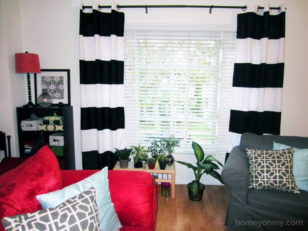 DIY Painted Curtains
