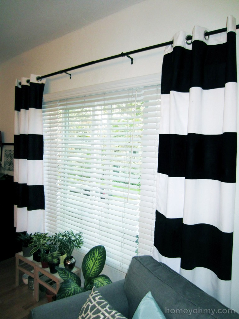 DIY Painted Curtains 2