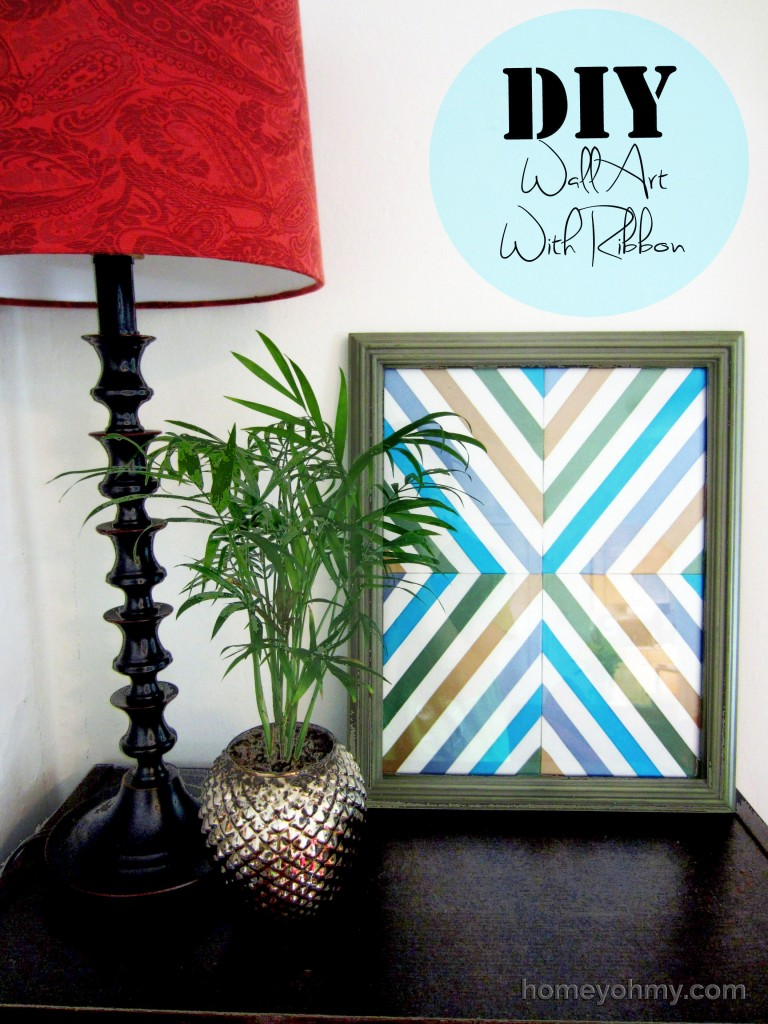 diy wall art with ribbon homey oh my. Black Bedroom Furniture Sets. Home Design Ideas
