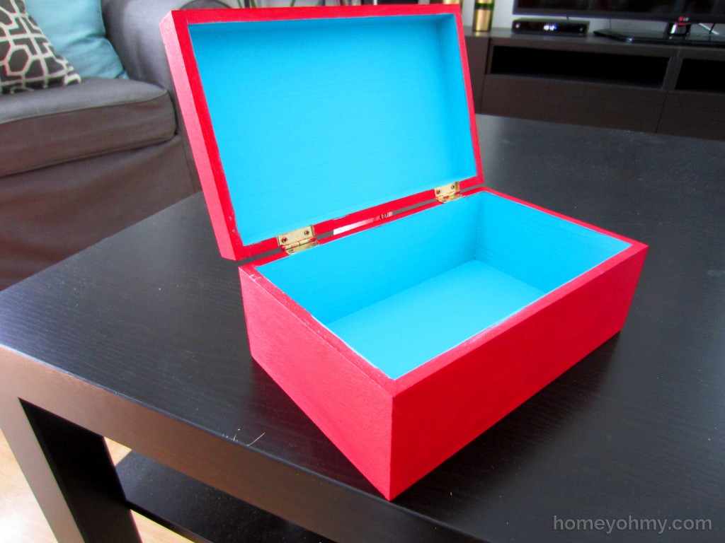 Painted Box Open