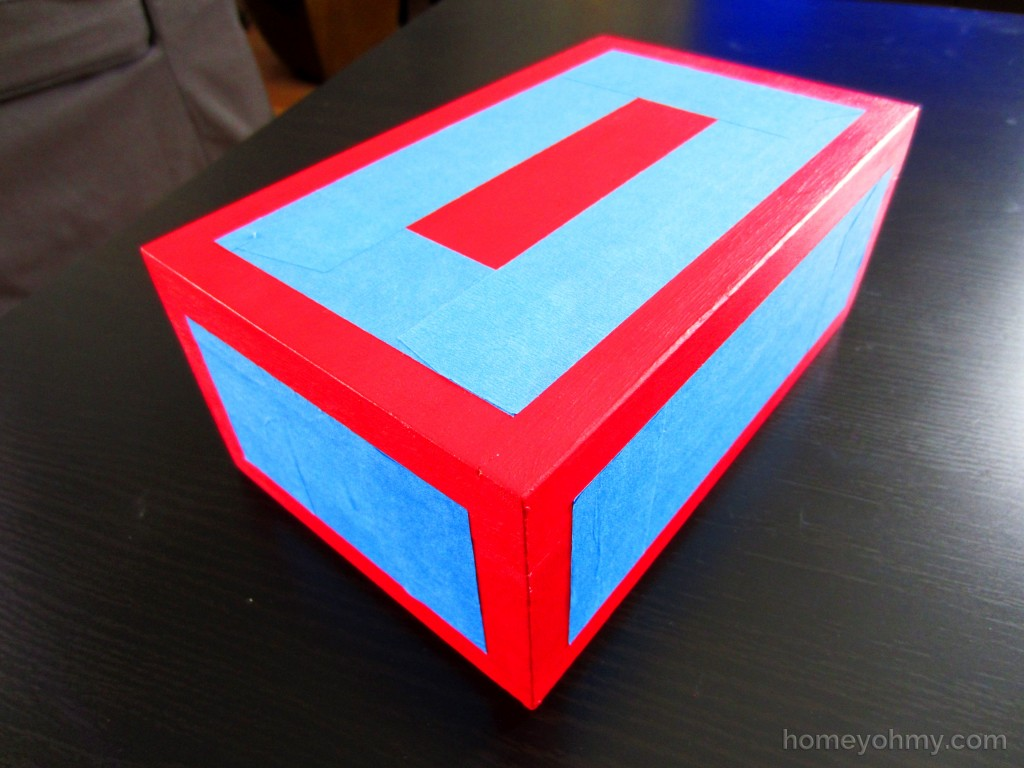 Painted Box Taped