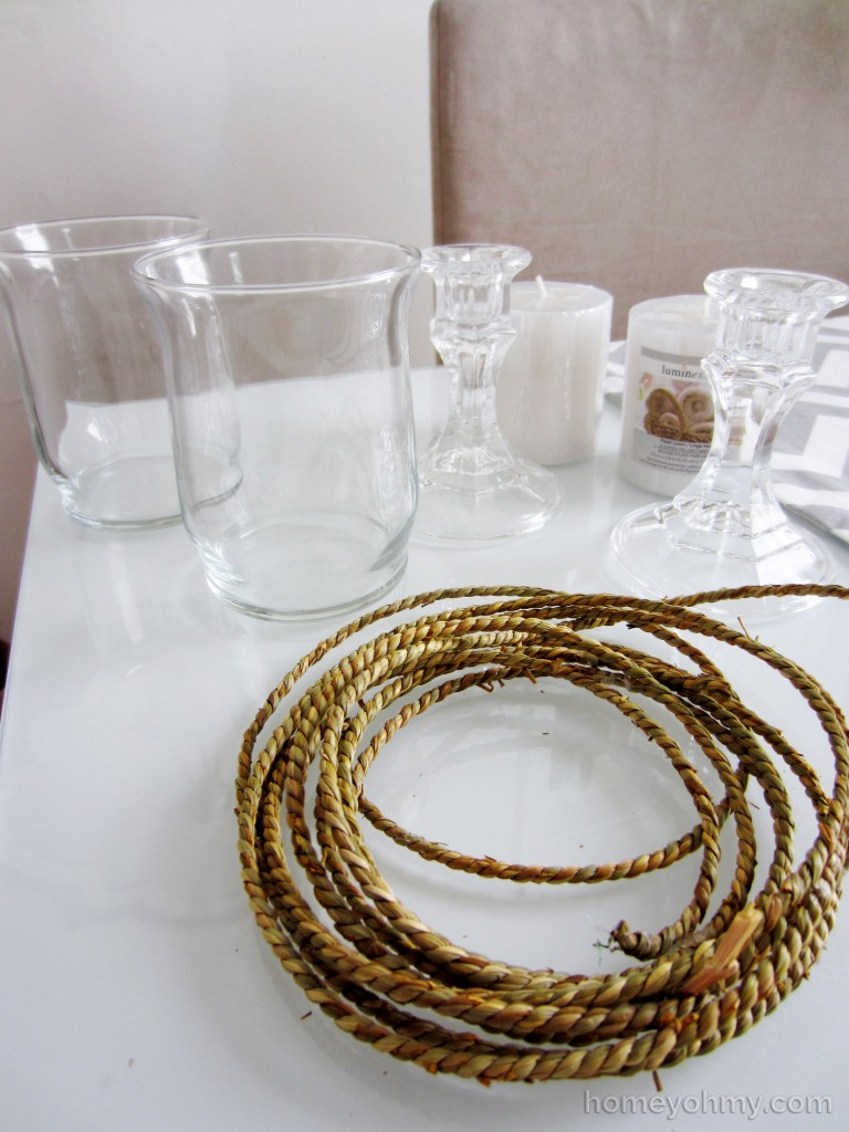 DIY Candle Holders Materials