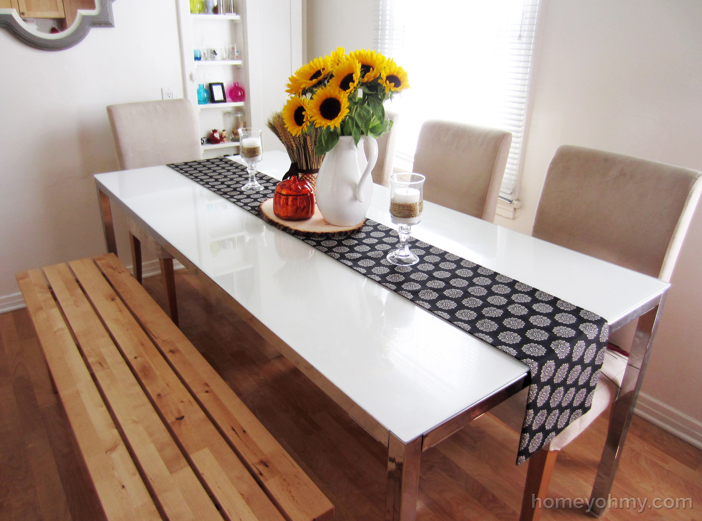 Diy no sew table runner homey oh my diy no sew table runner 4 solutioingenieria Gallery