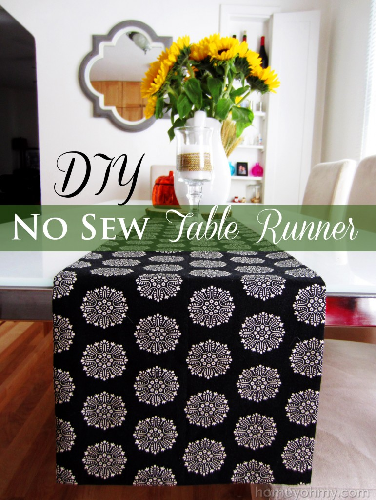 Diy No Sew Table Runner Homey Oh My