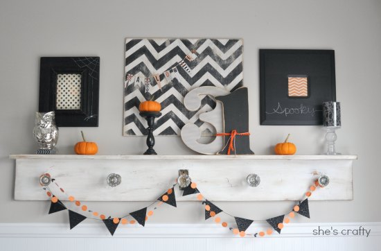 Halloween Mantel Shes Crafty Crafty