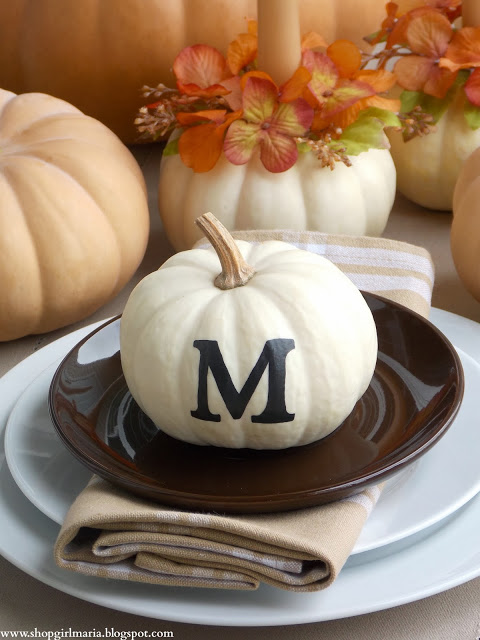 Monogrammed Pumpkin Shop Girl Maria