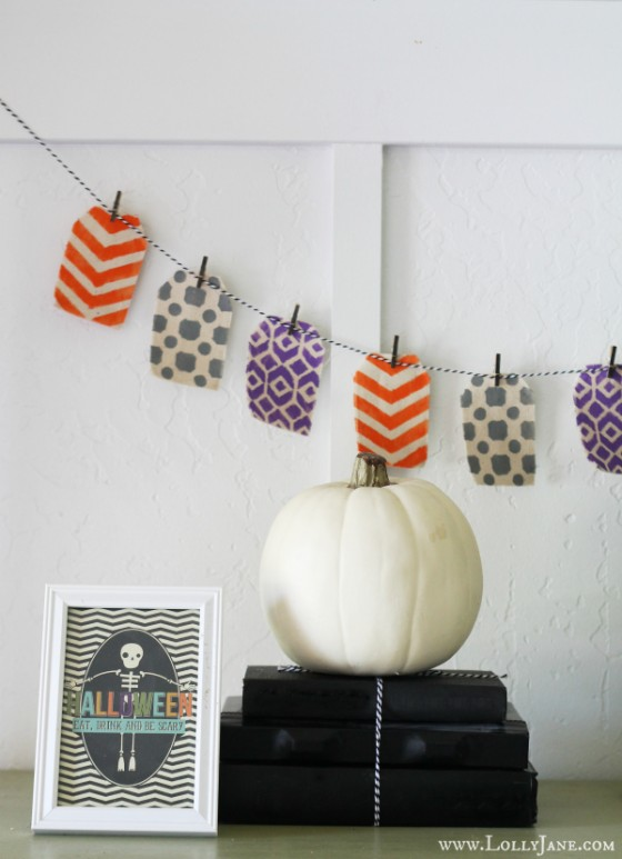Stenciled Halloween Bunting Lollyjane