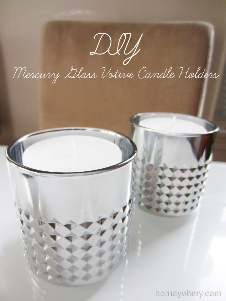DIY Mercury Glass Votive Candle Holders