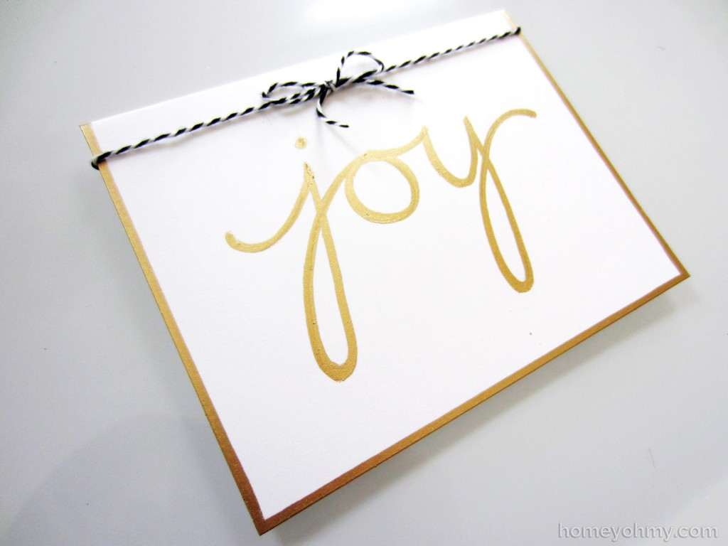 Joy card with bow