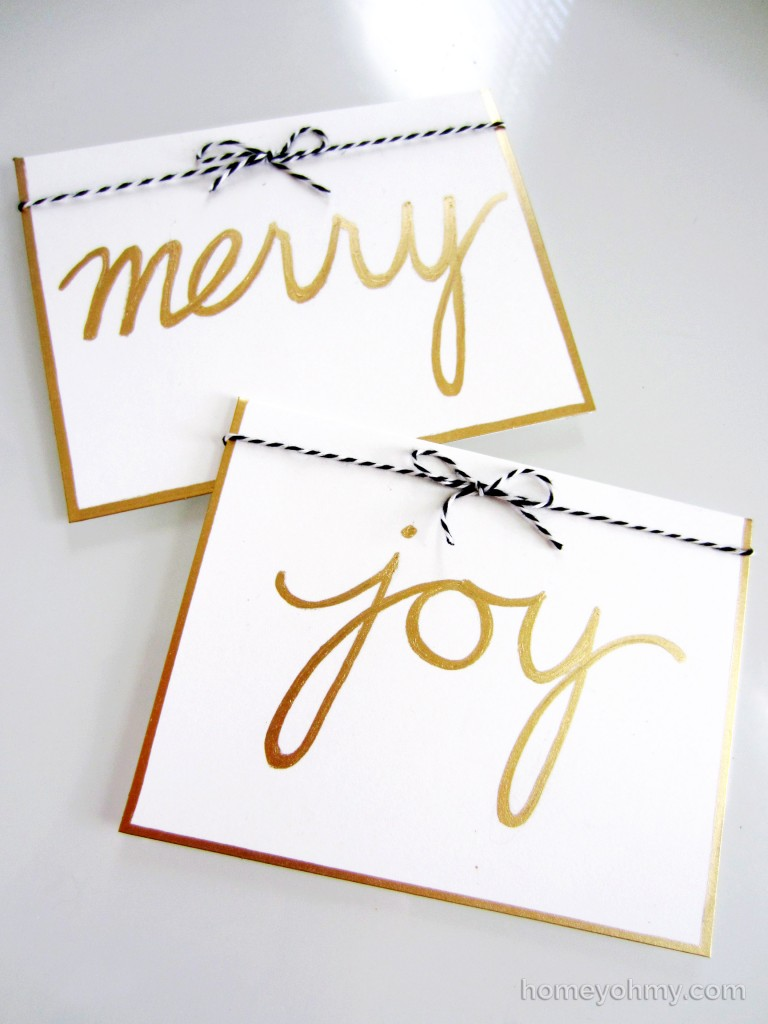 Merry and Joy Holiday Cards