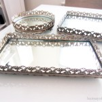 Vignettes with Mirrored Vanity Trays