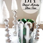 DIY Striped Mercury Glass Vase