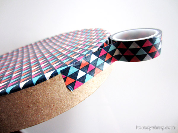 Washi tape on side