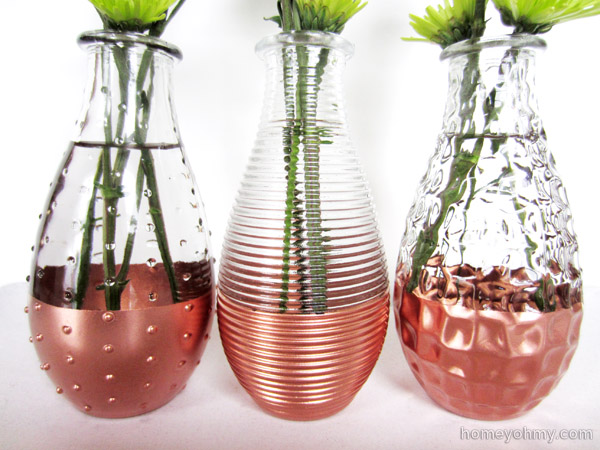 Diy Copper Dipped Vases Homey Oh My