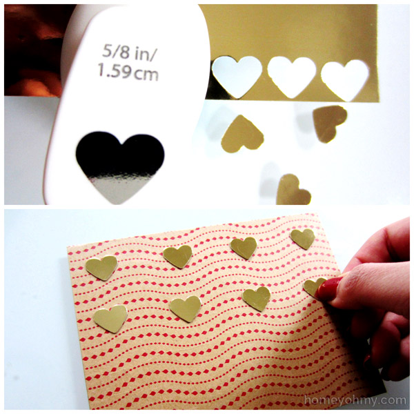 Cutting and gluing hearts