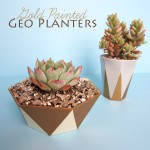 Gold Painted Geo Planters