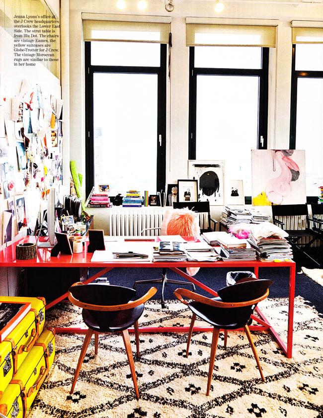 Red desk