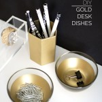 DIY Gold Desk Dishes