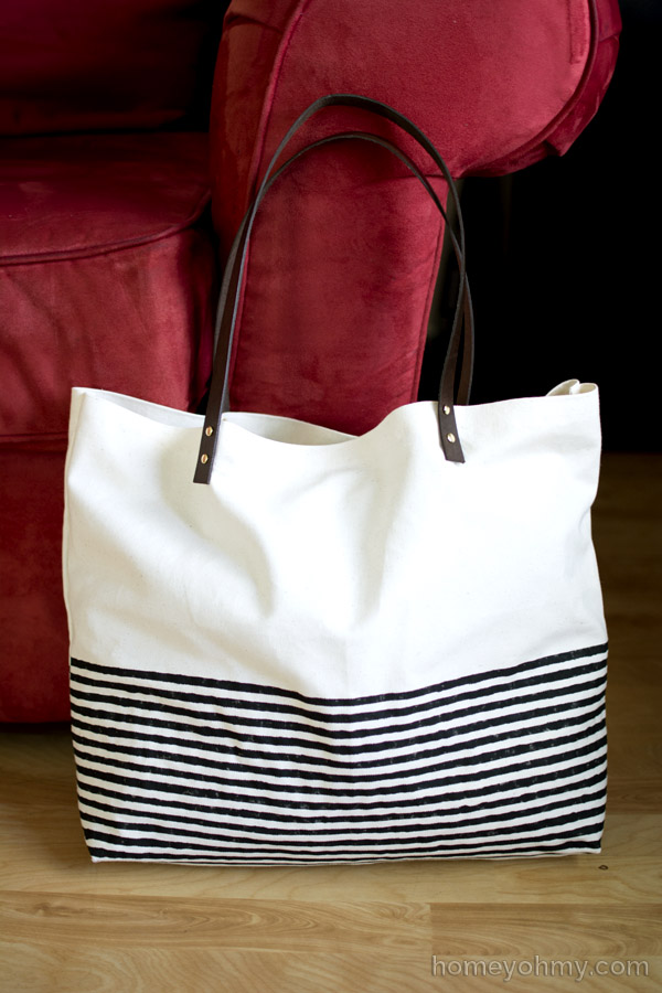 No Sew Canvas Tote