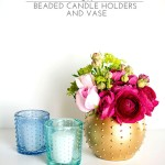 Beaded Candle Holders and Vase