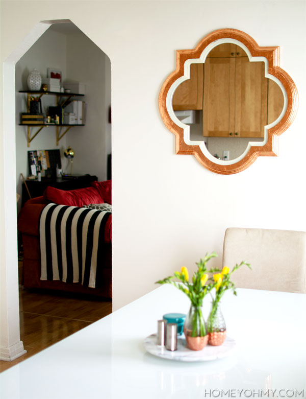 DIY Copper Leaf MirrorHomey Oh My