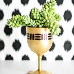DIY Gold Goblet Planter