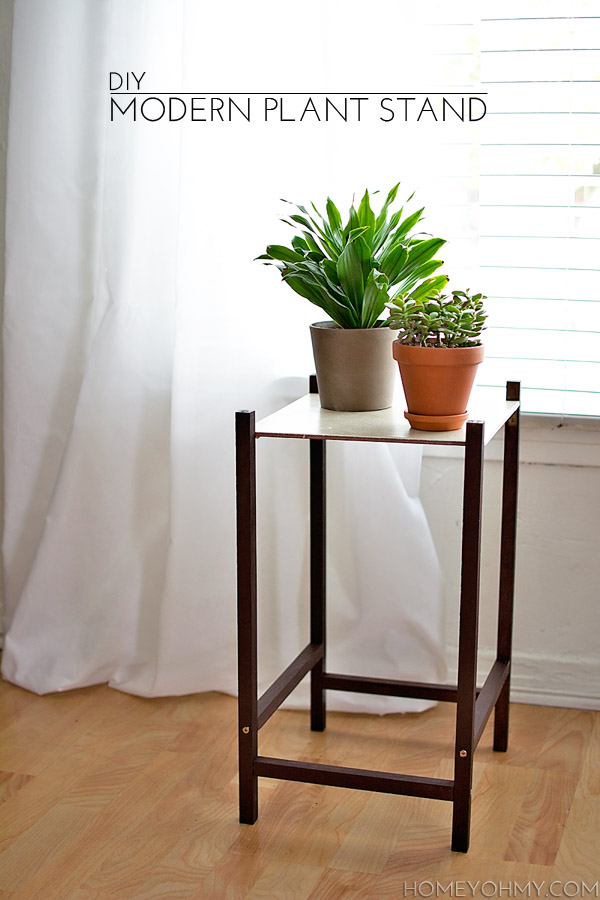 DIY Modern Plant Stand - Homey Oh My