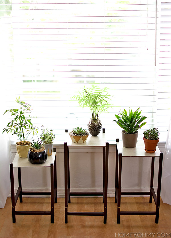 DIY Modern Plant Stands @homeyohmy