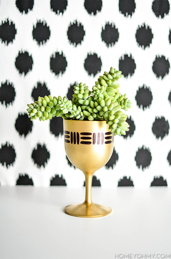 Gold Goblet Planter