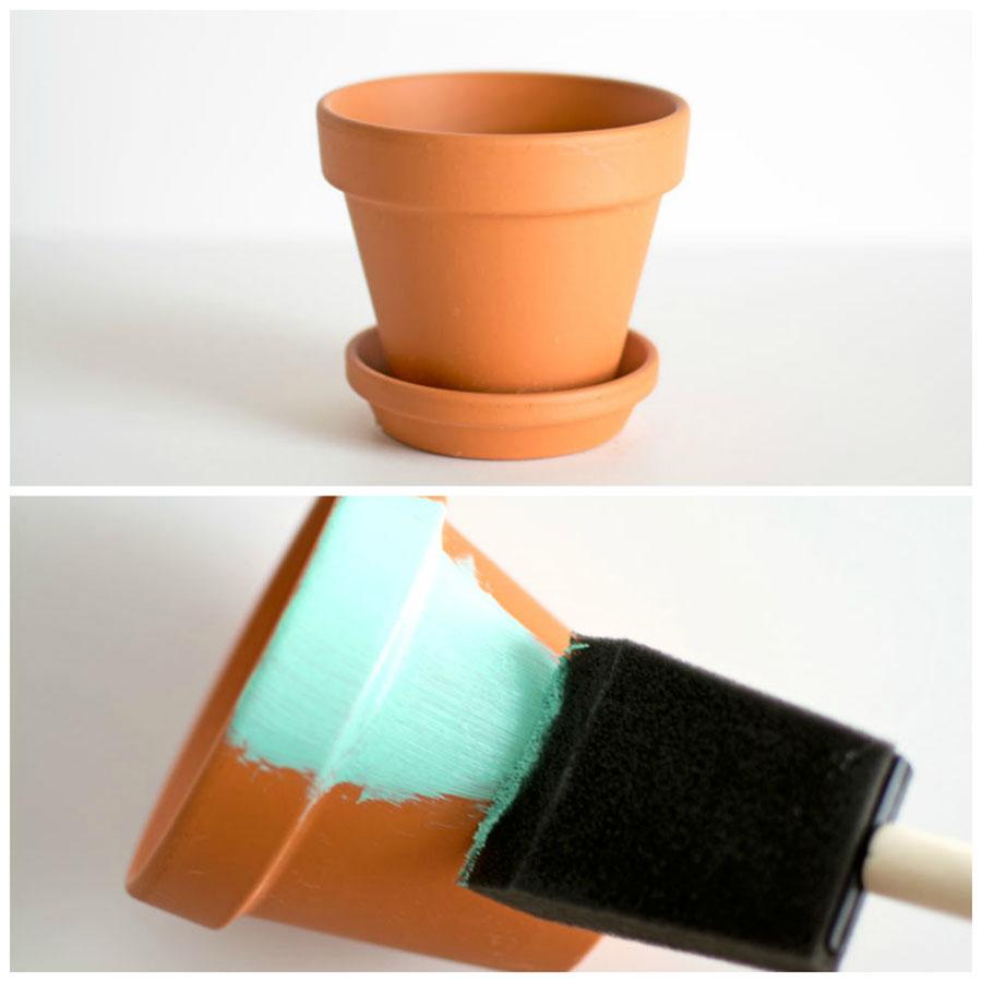 Painting a terracotta pot