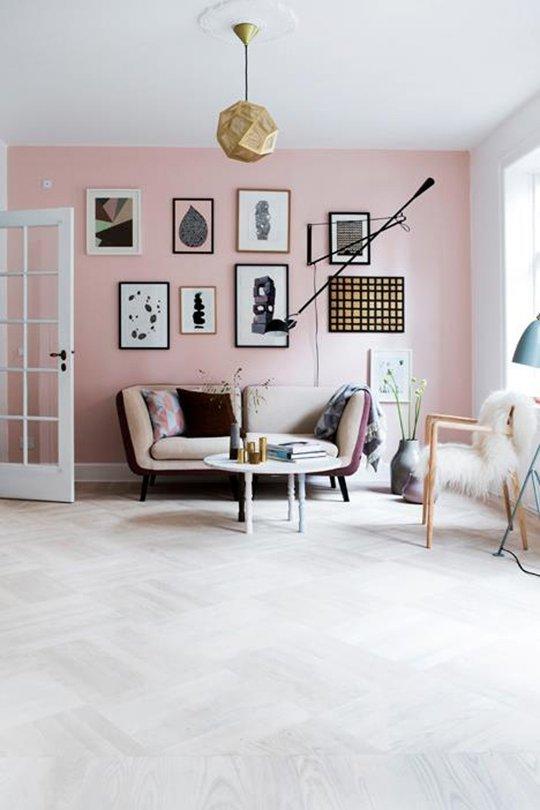 Pastel pink wall