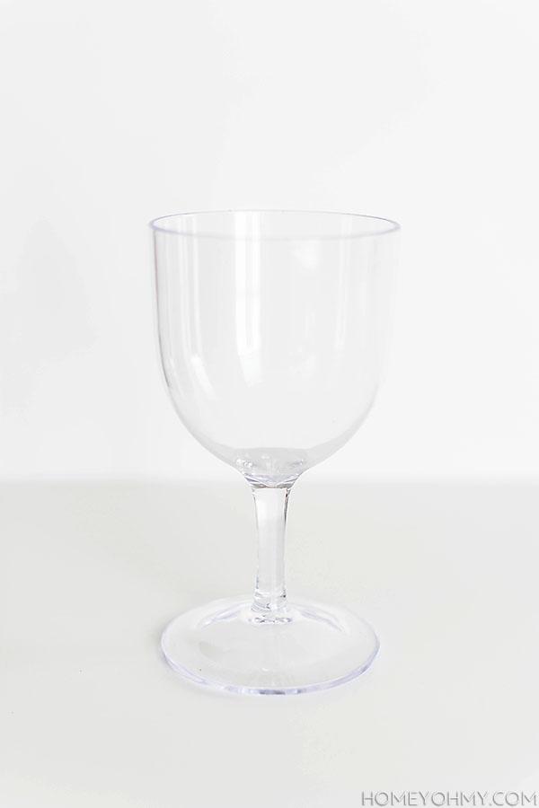 Target plastic goblet
