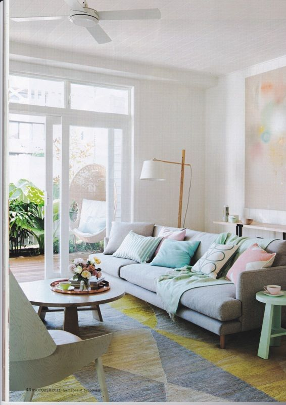 Pastel interiors for Living room ideas pastel