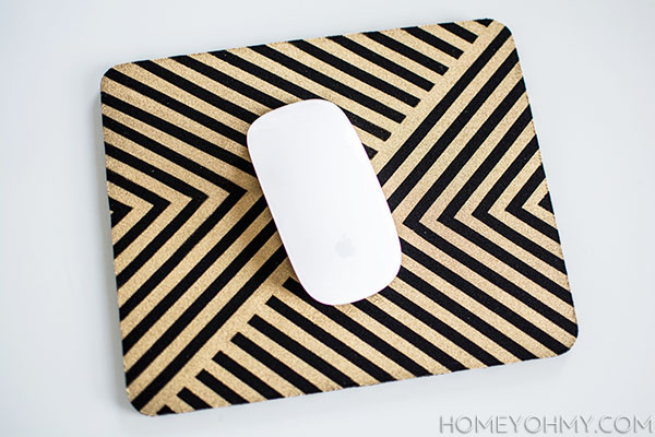 Diy Gold Mouse Pad Homey Oh My