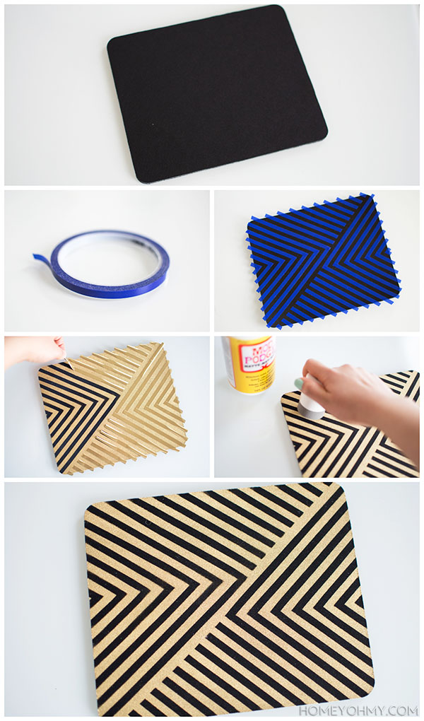 How to paint a mouse pad | Homey Oh My!