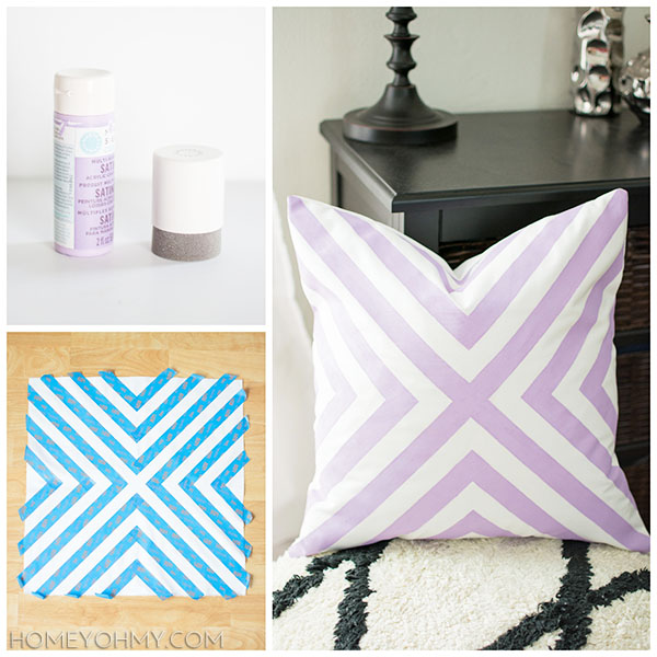 How to paint a pillow cover