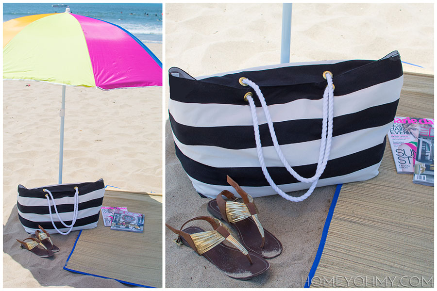 Beach Tote lounging