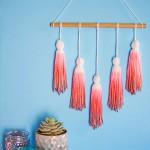 DIY Dip Dye Yarn Tassel Wall Hanging- Post at PBteen
