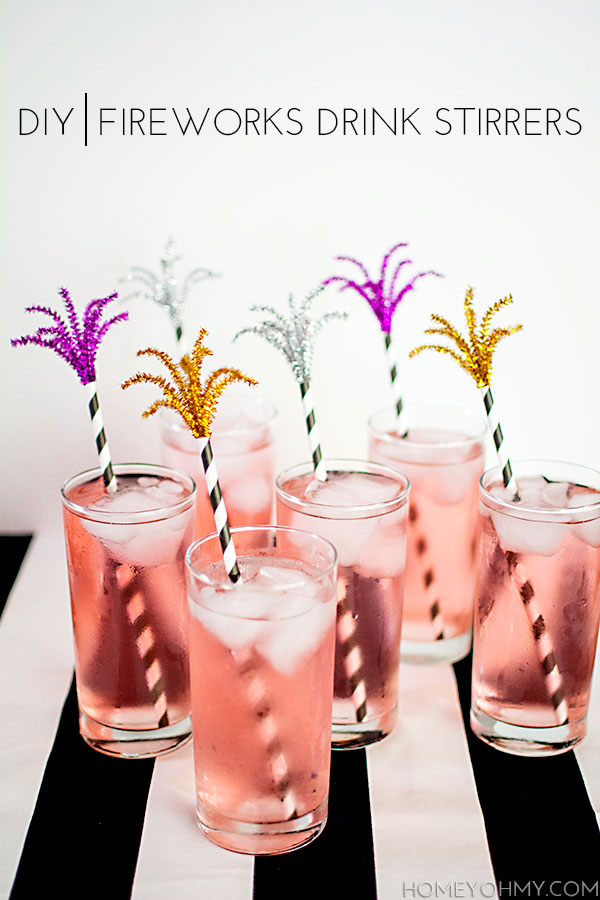 DIY Fireworks Drink Stirrers