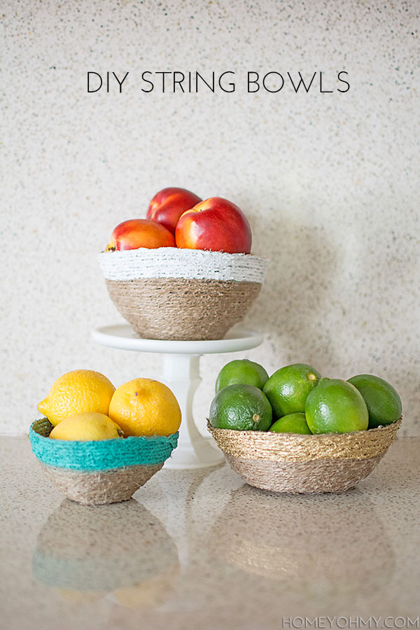 DIY String Bowls