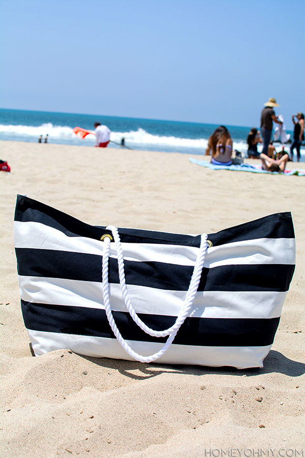 No Sew Beach Bag