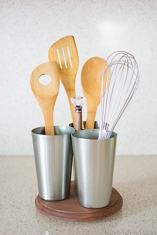 superior Spinning Utensil Caddy Part - 4: DIY Rotating Utensil Caddy