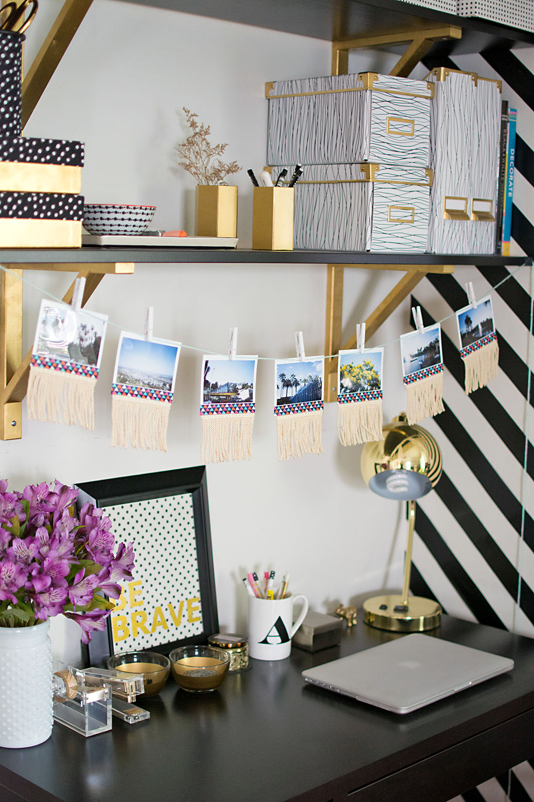 DIY Fringe Photo Garland - Homey Oh My