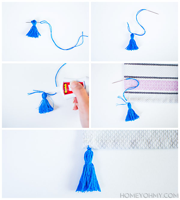 Sewing on tassel