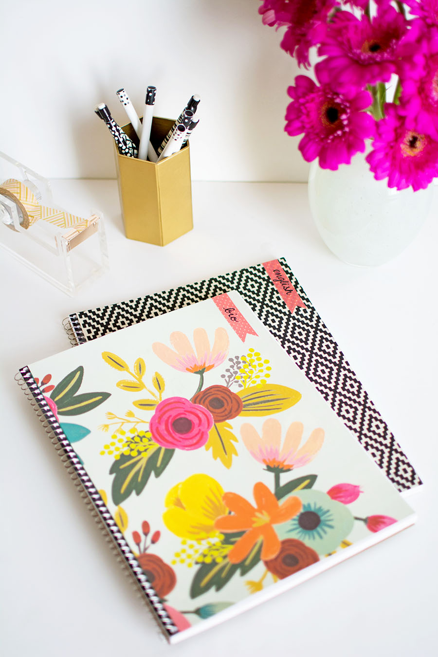 DIY Decorated Notebooks with Labels
