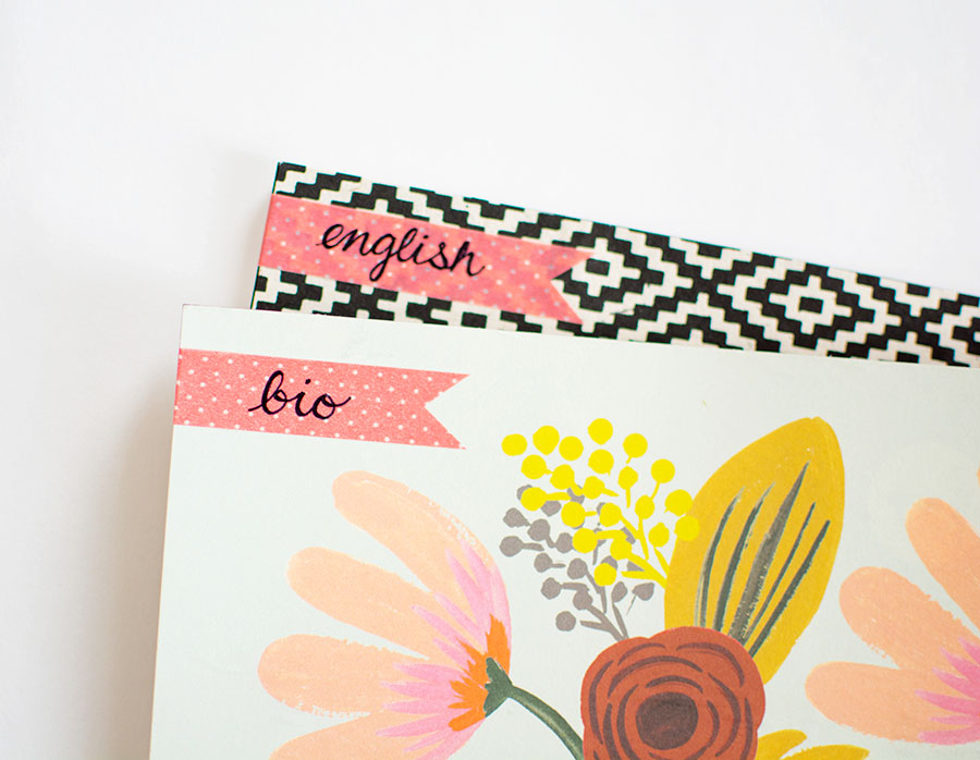 DIY Notebook Labels