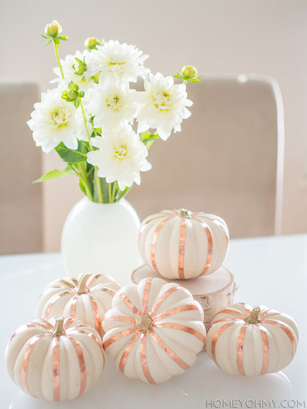 Copper tape pumpkins