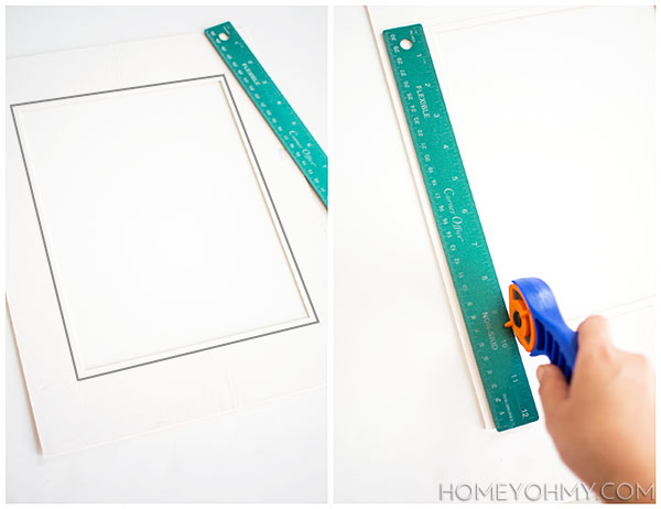 Cutting photo mat